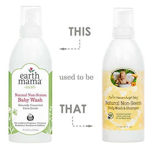 Earth Mama Natural Non-Scents Baby Wash Gentle Castile Soap for Sensitive Skin, 34-Fluid Ounce by Earth Mama (Image #2)'