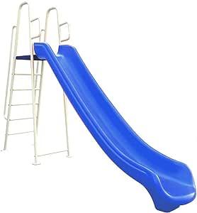 لعبة Rainbowtoy Slide للأطفال في الهواء الطلق كبير ارتفاع 180 سم للأنشطة للأطفال باللون الأزرق rbw12016bt Best Toys.