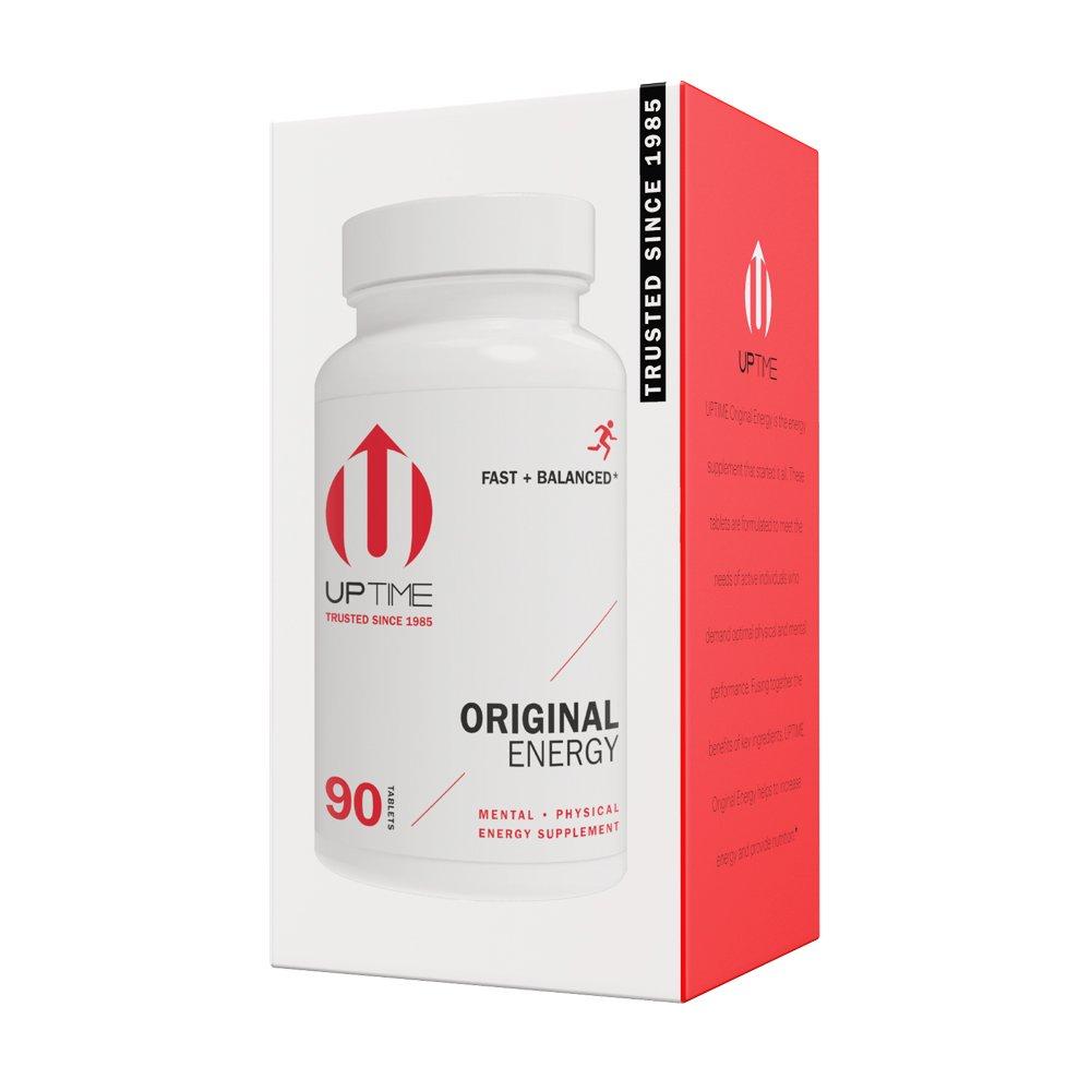 UPTIME - Premium Energy Caffeine Supplement - Original Blend Tablets - 90ct Bottle - Zero Calories by UPTIME