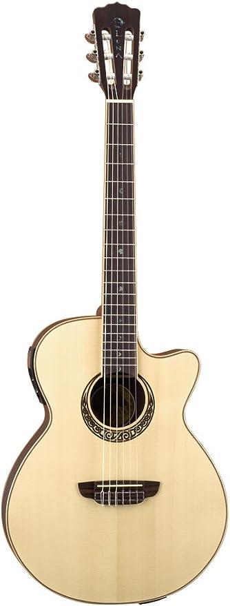 Luna Guitars - Guitarra acústica eléctrica (cuerdas de nailon ...