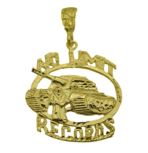 prince of diamonds Huge New No Limit Soldier Pendant Charm Records Jewelry Genuine 24K Gold Plated 24k Gold Plated Record