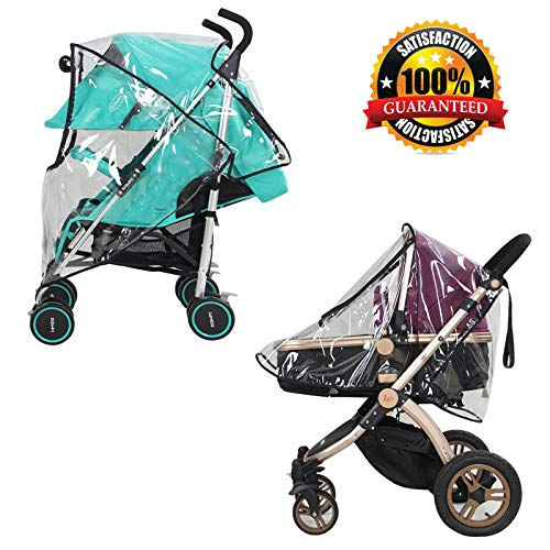 Baby Stroller Canopy Universal Baby Canopy Waterproof Stroller Rain Cover Wind Shield Most Stroller Pushchairs (Baby Pouch)