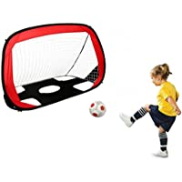 Kids Football net Soccer net Portable Foldable Dual-use Kids Soccer net for Indoor Outdoor Soccer Training with bag