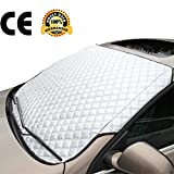 #1: Car Sun Shade Protector Snow Windshield Cover Thick Cotton Car Window Covers All Weather Windshield Covers for Small or Midsize Car (Ordinary Size)
