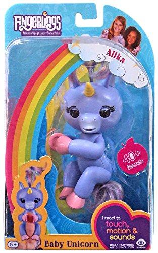 WowWee Fingerlings Baby Unicorn Purple Alika