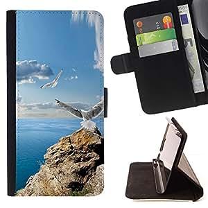 Momo Phone Case / Flip Funda de Cuero Case Cover - ICONO DEL ROCK GAVIOTAS y MAR - Apple Iphone 5C