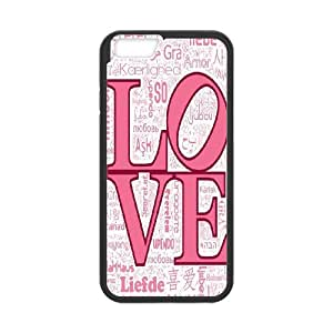 Love Pink Pattern Productive Back Phone Case For Apple Iphone 6 Plus 5.5 inch screen Cases -Pattern-2