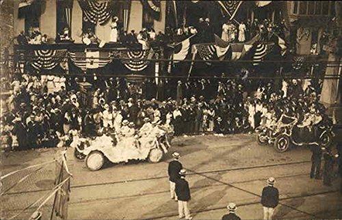 Parade of Cars on Street Events Original Vintage Postcard from CardCow Vintage Postcards