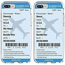 """SHARK """"Boarding pass""""""""Plane tickets"""" Best Friends Style/Boyfriend&Girlfriend/His and Hers/ Matching Couple Cases for (Beast:Iphone 5/5s)"""
