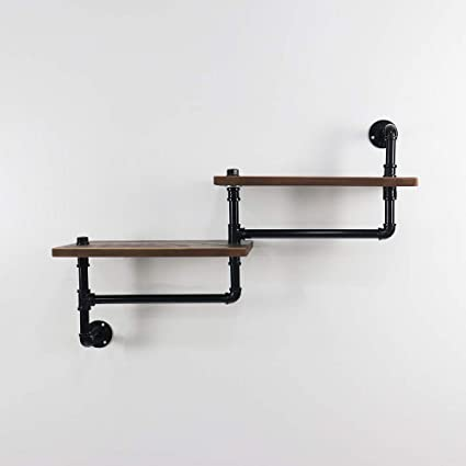 brand new 4c924 29ef8 Amazon.com: KINMADE Industrial Pipe Floating Ladder Shelf ...