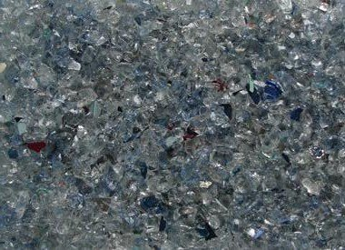 Colored Recycled Mirror Glass Pebbles (G 5210) Light Blue 10 Lbs.