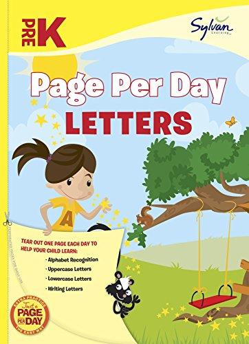 Pre-K Page Per Day: Letters (Sylvan Page Per Day Series, Language Arts)