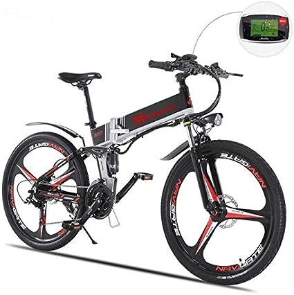 SHIJING Bicicleta eléctrica asistida eléctricamente ebike Bicicleta de montaña Bicicleta de montaña eléctrica Bicicleta ELETRICA e bikeel Bicicleta ectric,1: Amazon.es: Deportes y aire libre