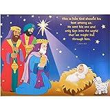 Jumbo Advent Calendar Jesus and Wise Men with Scripture 16 x 12