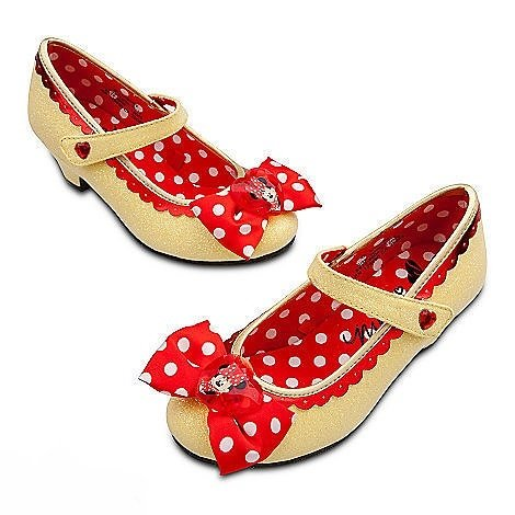 Disney Store Minnie Mouse Toddler Girls Sparkling Yellow Shoes 13 / 1 Youth