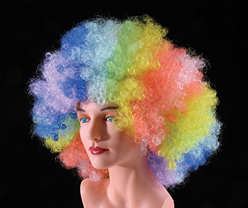 Loftus International Star Power Huge Super Fro Clown Costume Afro Wig Rainbow One Size Novelty Item -