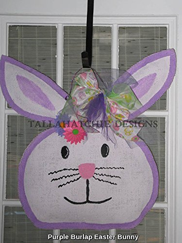 Burlap Easter Bunny Door Hanger Easter Door Hanger Spring Burlap Door Hanger & Amazon.com: Burlap Easter Bunny Door Hanger Easter Door Hanger ... pezcame.com