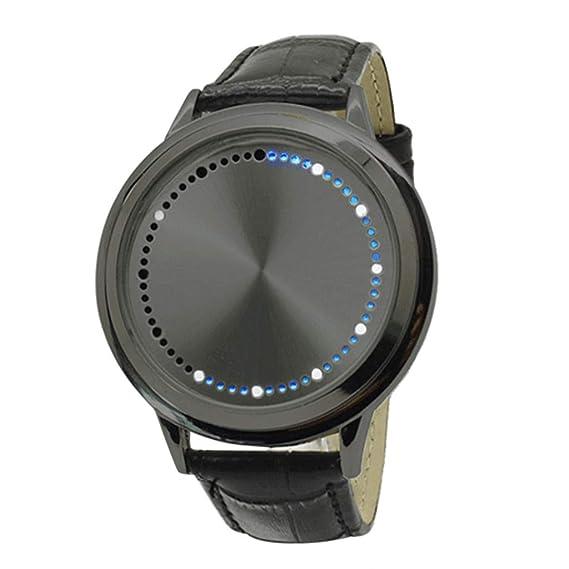 68d66450259c Dylung Reloj de Hombre Personalidad Reloj de Pulsera para Jovenes Relojes  Deportivos de Hombres LED Cuarzo