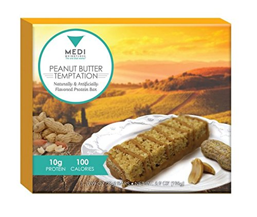 ut Butter Temptation Protein Bars - 100 calories, 6.9 oz (Box of 7) High Protein - Nutritional - For Hunger Control During Diet/Weight Loss ()