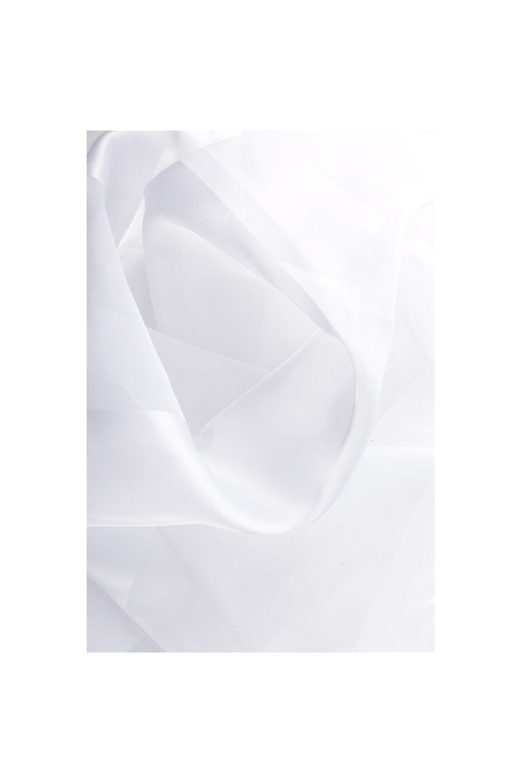 Rideau Voilage 140 x 240 cm a Rayures Satinees Blanc RideauDiscount