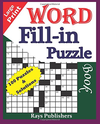 Large Print Word Fill Puzzle product image