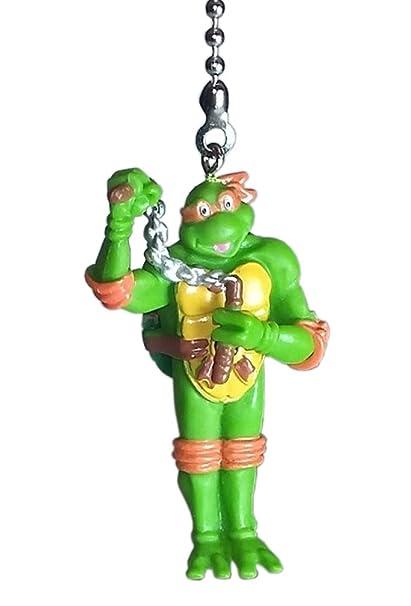 TMNT Teenage Mutant Ninja Turtles Ceiling Fan Pulls by Wooden Androyd Studio (Michelangelo Orange)