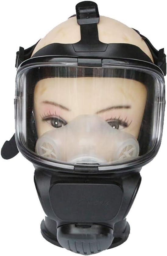 Mascarilla antipolvo de cara completa, máscara de gas en aerosol, profesional, con un solo cartucho para soldadura de pesticidas químicos y otras protecciones de trabajo