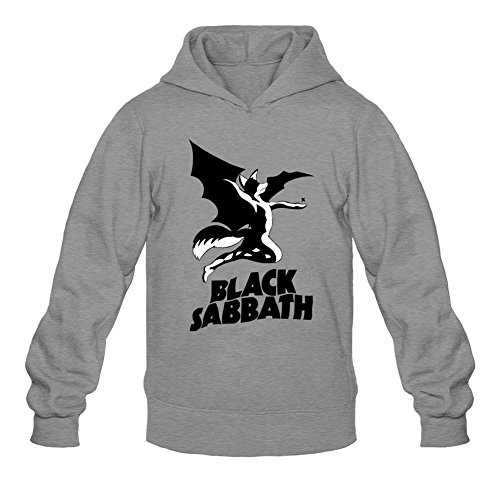 ZHENGXING Men's Black Sabbath Logo Hoodie L Dark Grey