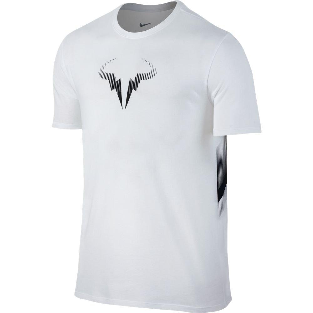 Nike Rafa Nadal - Court Hombre Camiseta de Tenis, Color weiß, tamaño Small: Amazon.es: Deportes y aire libre