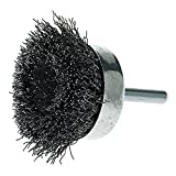 Mercer Industries 193020BCrimped Cup Brushes, 2'' x 1/4'' Hex Shank .014 Carbon Steel Wire, 20 Pack