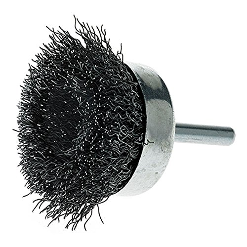 """Mercer Industries 193020BCrimped Cup Brushes, 2"""" x 1/4"""" Hex Shank .014 Carbon Steel Wire, 20 Pack"""