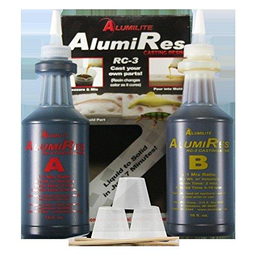 Alumilite AlumiRes (RC-3) Black Casting Resin 32 OZ