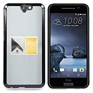 - House Window Deep Minimalist - - Snap-On Rugged Hard Cover Case Funny HouseFOR HTC ONE A9