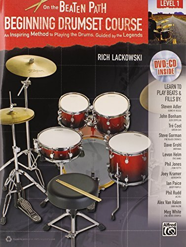 - Beginning Drumset Course, Level 1: An Inspiring Method to Playing the Drums, Guided by the Legends (Book, CD & DVD (Hard Case)) by Rich Lackowski (2012-01-01) ()