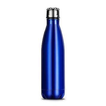Botella de Agua Térmica Acero Inoxidable 500ml portátil, Libre de BPA, para hacer deporte