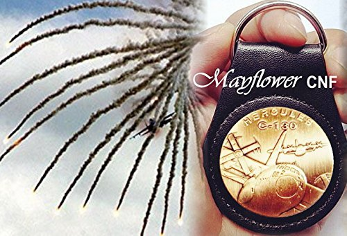 - Mayflower CNF Coin &Leather Holder - U.S Air Force Gold C-130 Challenge Coin Rare - We the People of The United States, Salute to our Heroes, Fight for Freedom!