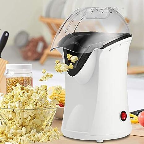 1200W Black Popcorn Machine No Oil Popcorn Popper with Measuring Cup Hot Air Popcorn Popper Maker