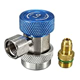 Vivona Hardware & Accessories R134A AC Air Condition Adjustable Quick Connector Adapter High/Low Pressure - (Color: Blue)