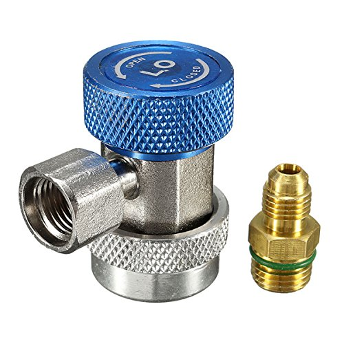 Vivona Hardware & Accessories R134A AC Air Condition Adjustable Quick Connector Adapter High/Low Pressure - (Color: Blue) by Vivona (Image #1)