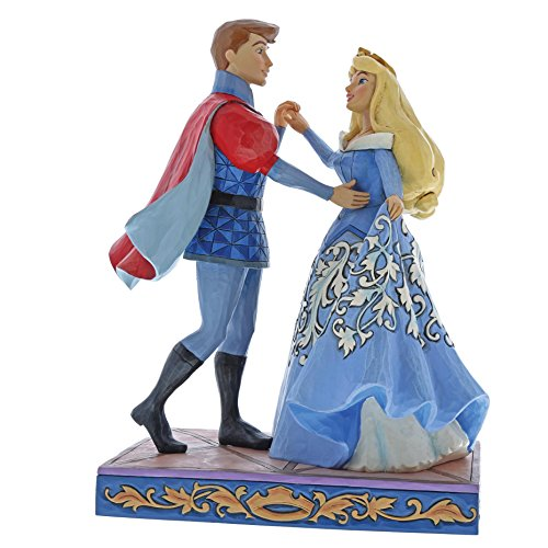 Jim Shore Disney Traditions by Enesco Aurora and Prince Philip Dancing Figurine (Aurora Vest)