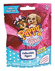 NEW 2015 Puppy In My Pocket SERIES 1 Blind Bags (1 Fuzzy Puppy per Bag X 2 Bags)