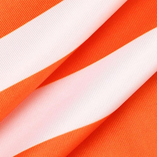Dress Long Blouse Dress Slim Dress Sheath Party Women SMTSMT Striped Strapless Sling Long Women Sexy Orange Sleeveless 8OwTqf44
