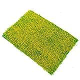 Sonline l'Herbe Verte - mat Chemin de Fer Modele de Formation Mise en Page 20 x 30cm w /Fleur Jaune