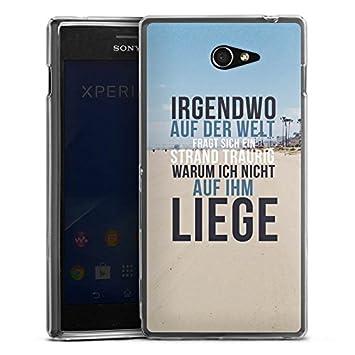 Sony Xperia M5 Slim Case Carcasa de silicona playa verano ...