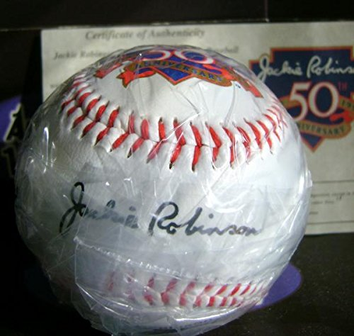 Jackie Robinson Signed Baseball - facsimile commemorative) - MLB Unsigned -