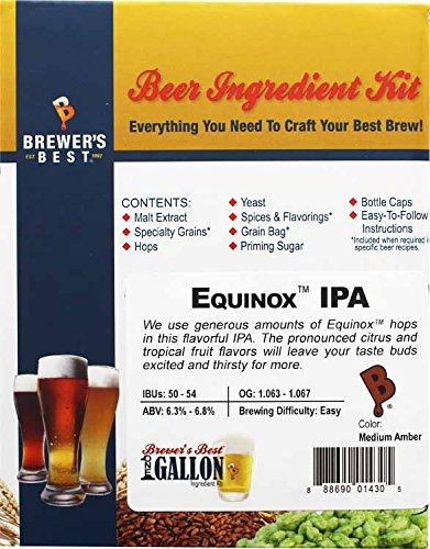 Brewer's Best One Gallon Home Brew Beer Ingredient Kit (Equinox IPA) (Ipa Beer Ingredients compare prices)