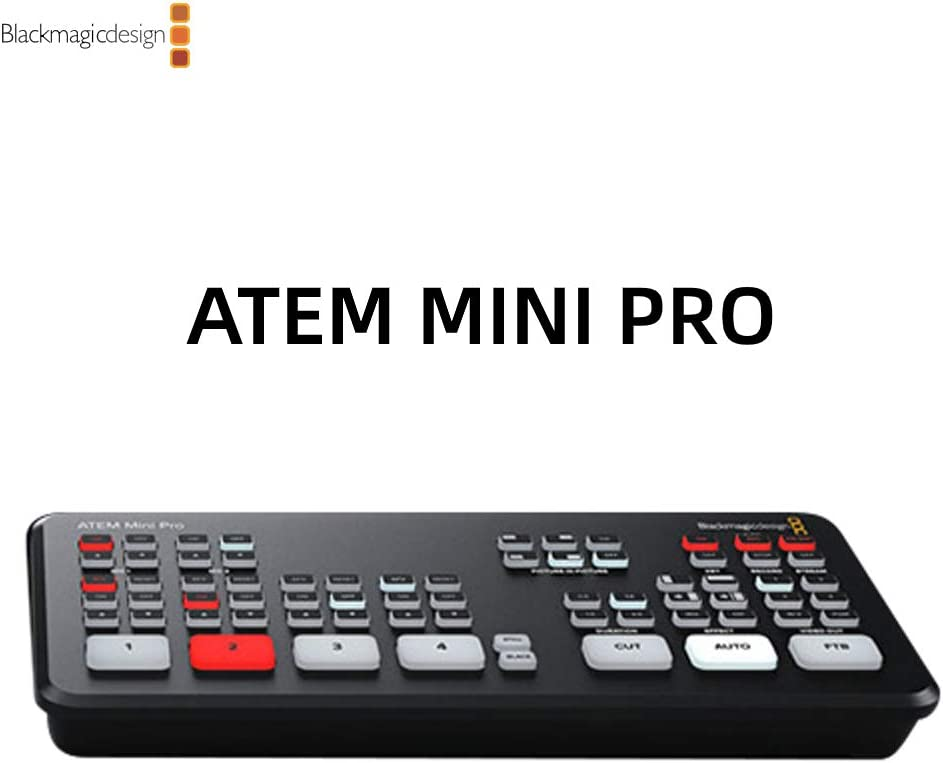 Blackmagic Atem Mini Pro Live Switcher Full Support And Control Features For Bmpcc 6k And 4k Cameras Simultaneous Usb Recording Atem Mini Pro Amazon Co Uk Computers Accessories