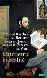 Littérature et réalité par Barthes