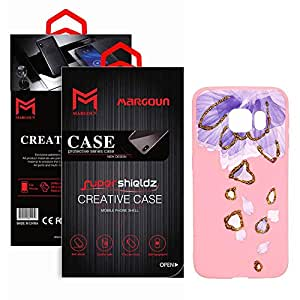 Margoun TPU Pinky Case with Falling Petals Design Compatible for Samsung Galaxy S6 Edge