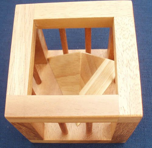 Pyramid Cage - size large wood puzzle and brain teaser (Puzzle Wood Pyramid)